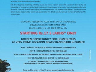 RESIDENTIAL PLOTS NEAR PGI CHANDIGARH IMPERIAL GOLF GREENS